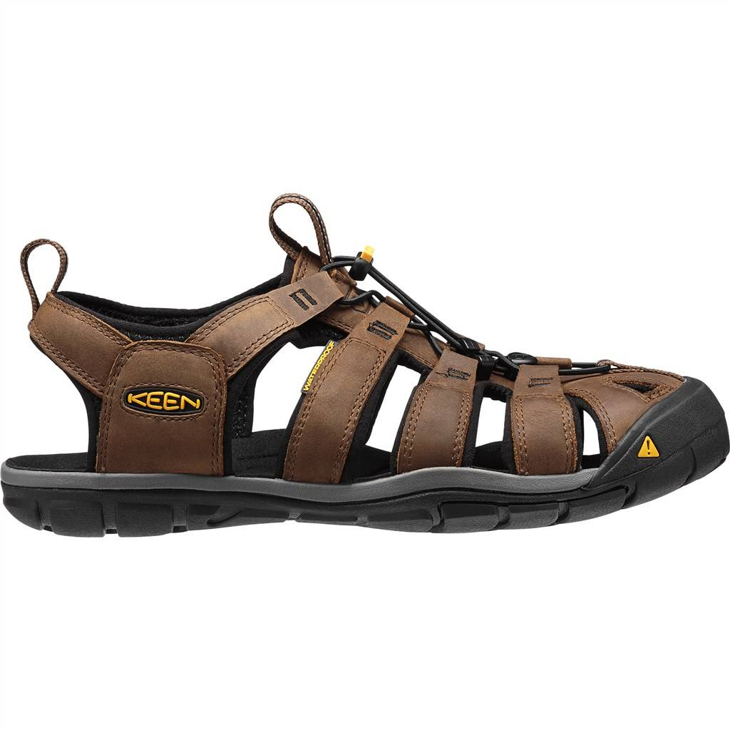 KEEN - M Clearwater CNX Leather - dark earth/black